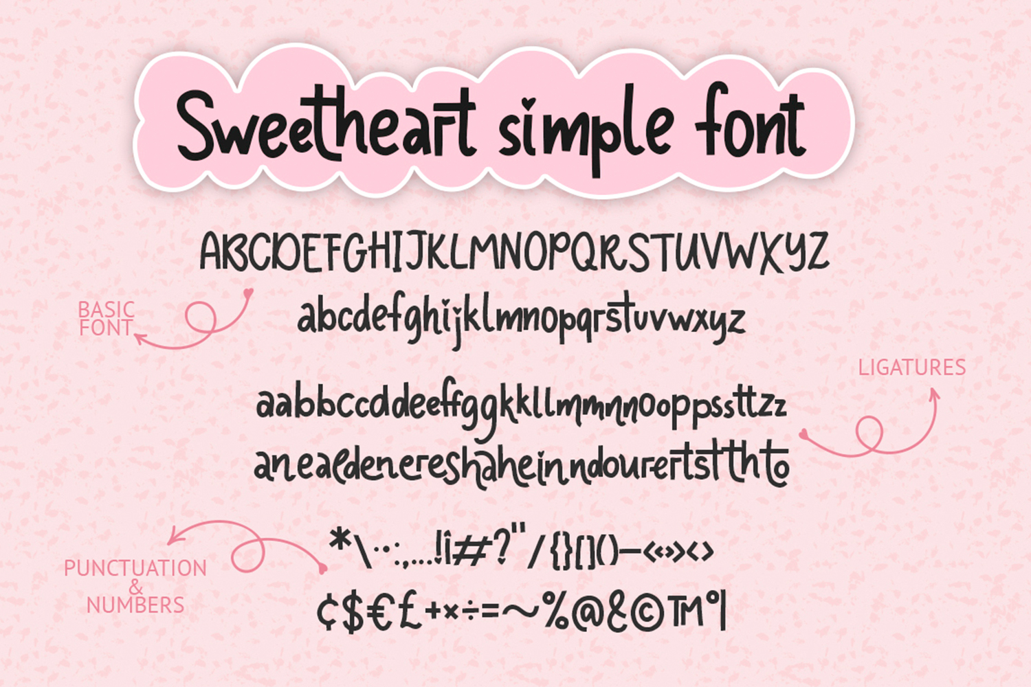 Sweetheart font family example image 2