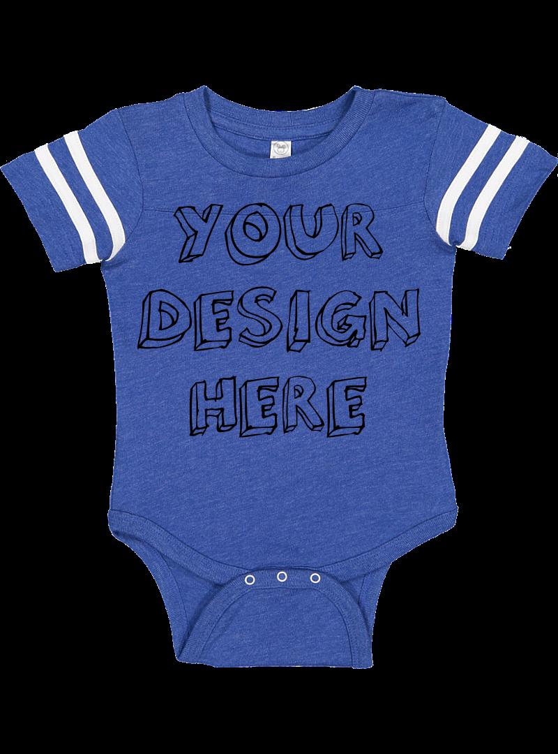 Infant Football Bodysuit Mockups - 12 |PNG|Front/Back - V2 example image 8