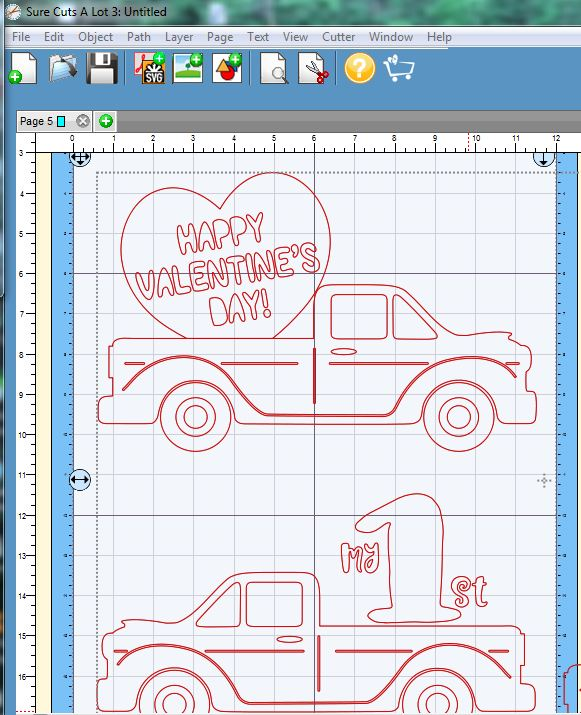 Valentine truck svg - truck SVG - Valentine truck WITH HEART example image 7