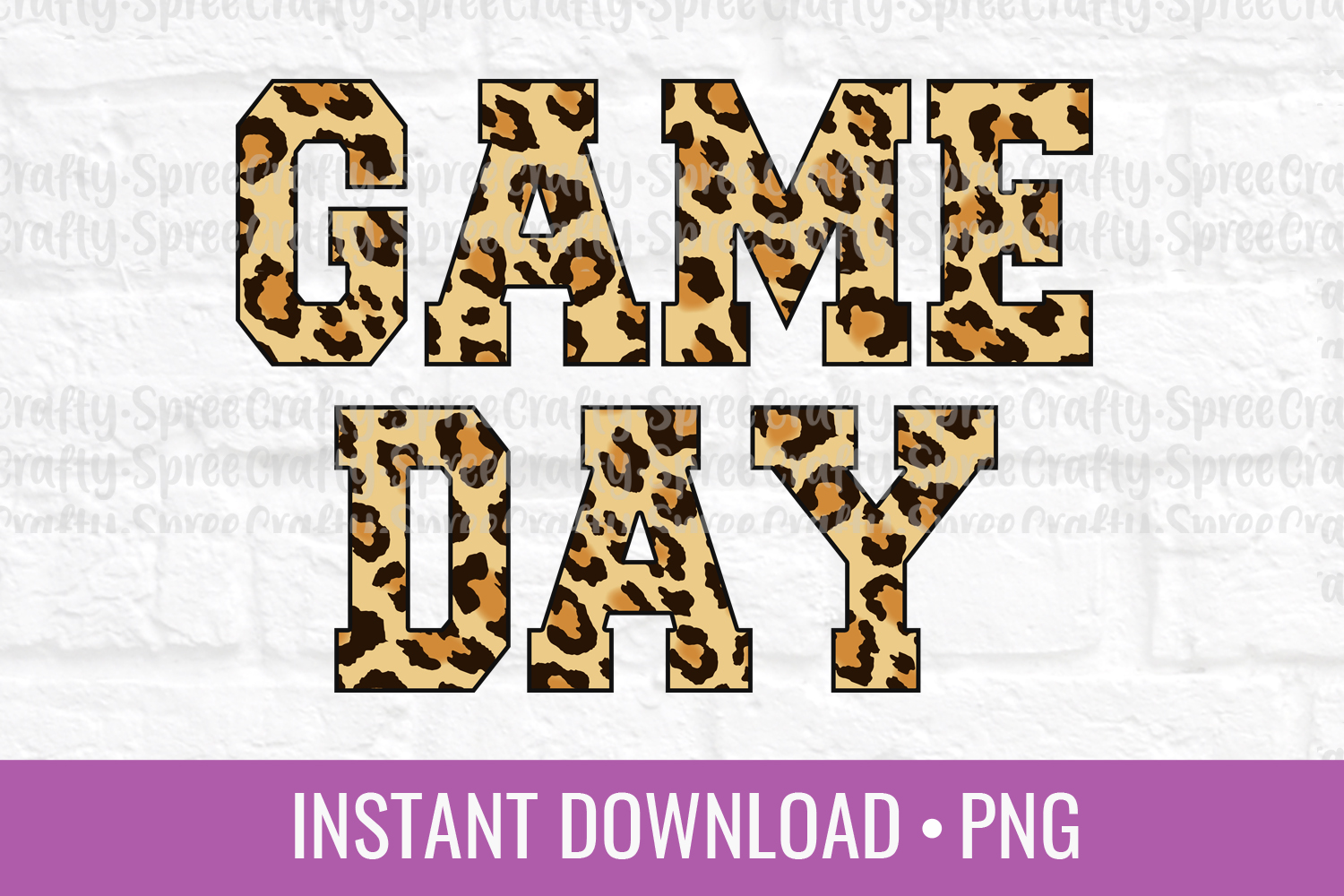 Game Day Leopard Print PNG Sublimation DTG Design example image 1
