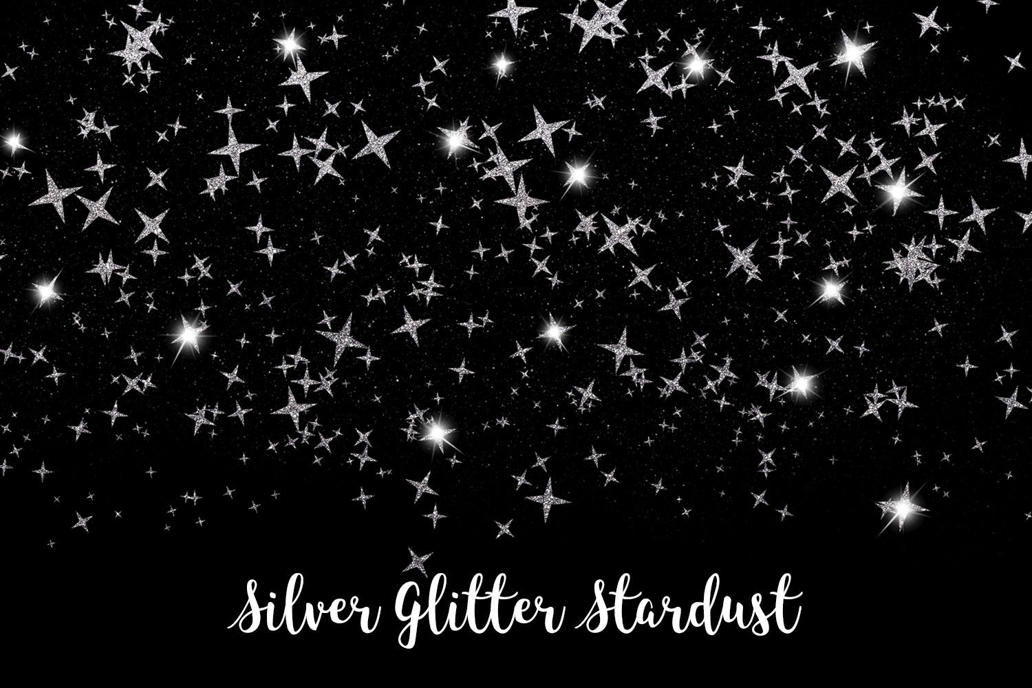Silver Glitter Stardust, Transparent PNG example image 8