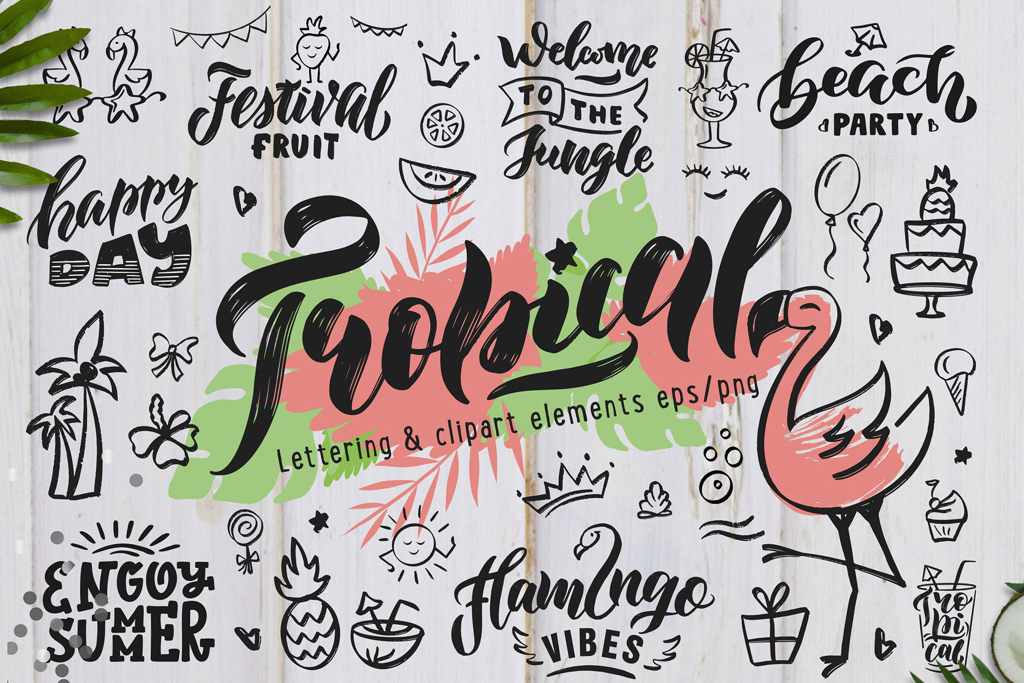 Hand Drawn Tropical style collection example image 1