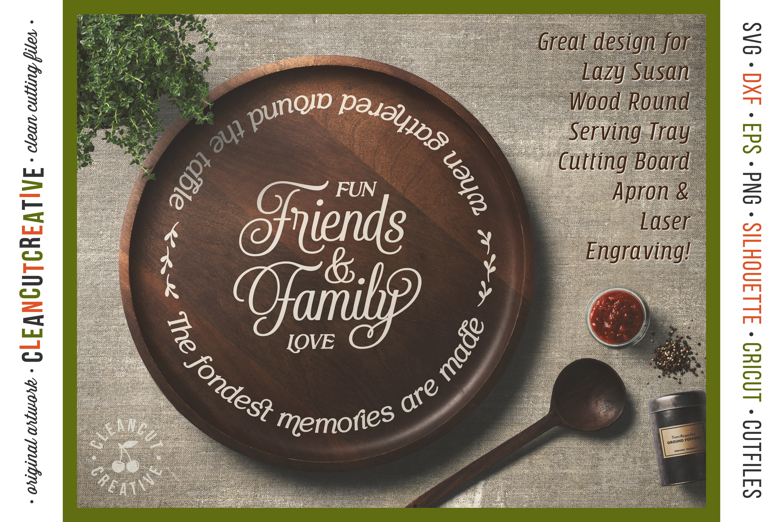 Friends & Family Fondest Memories Gathered Table - round svg example image 2