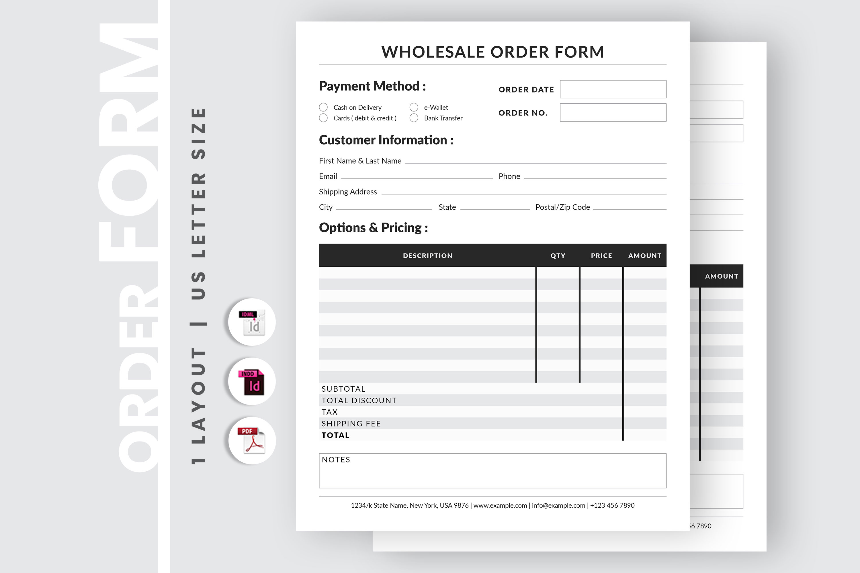 Editable Wholesale Order Form Template example image 2