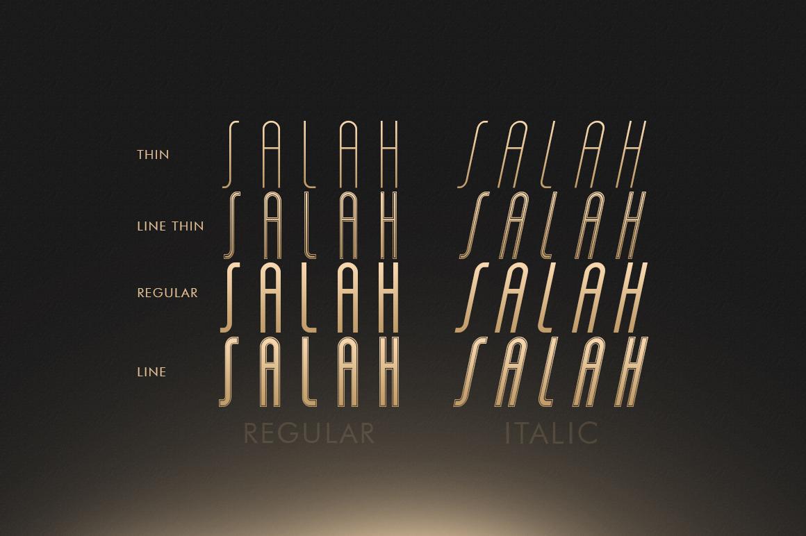 Salah Sans Serif 8 Font Family example image 5