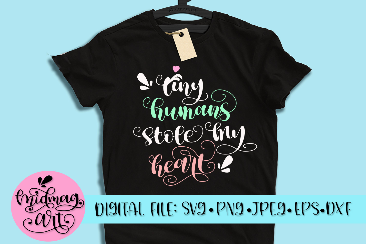 Tiny humans stole my heart svg, png, jpeg, eps and dxf example image 1
