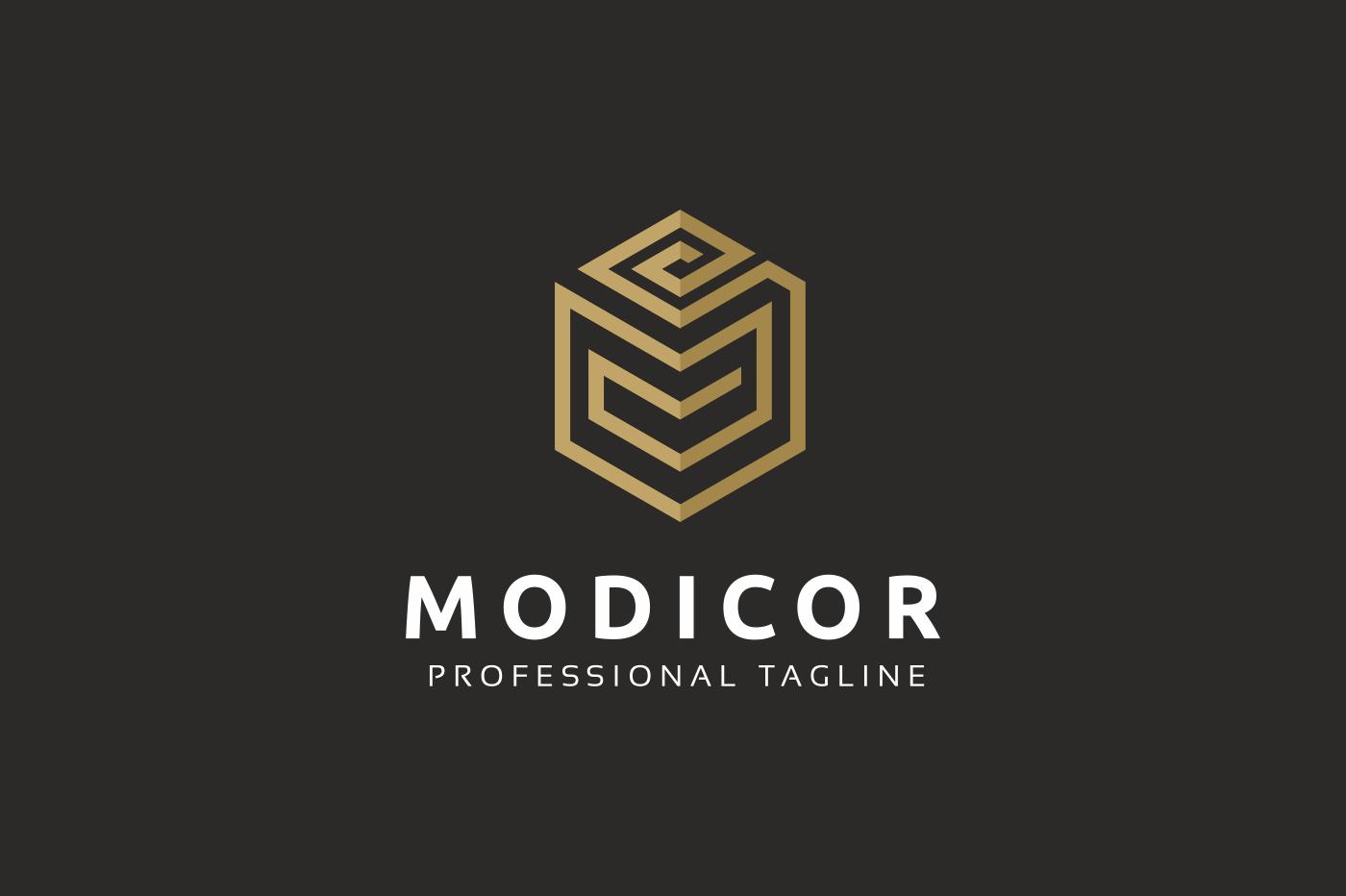 Modicor M Letter Logo example image 2
