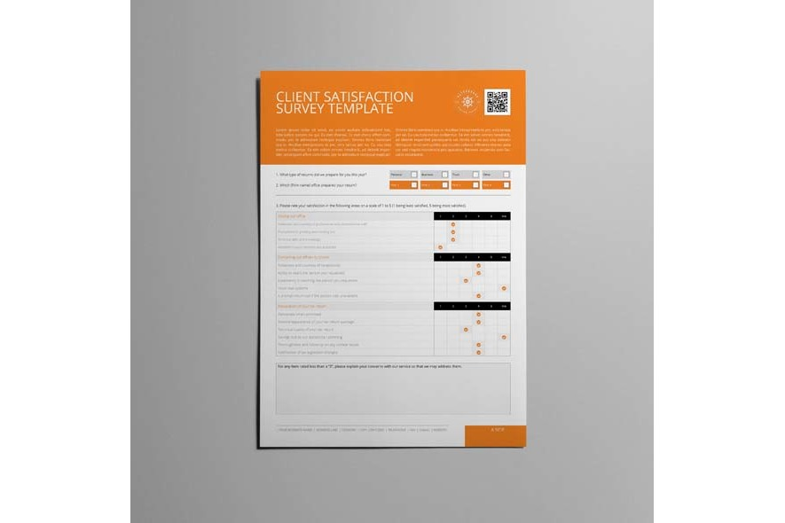 Client Satisfaction Survey Template example image 3