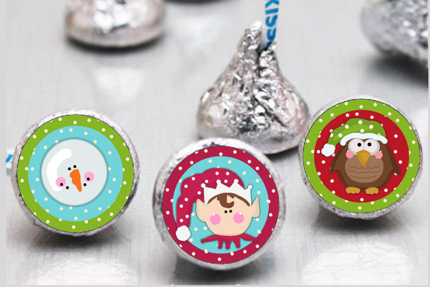 Whimsical Christmas Bottlecap Images, Labels example image 2