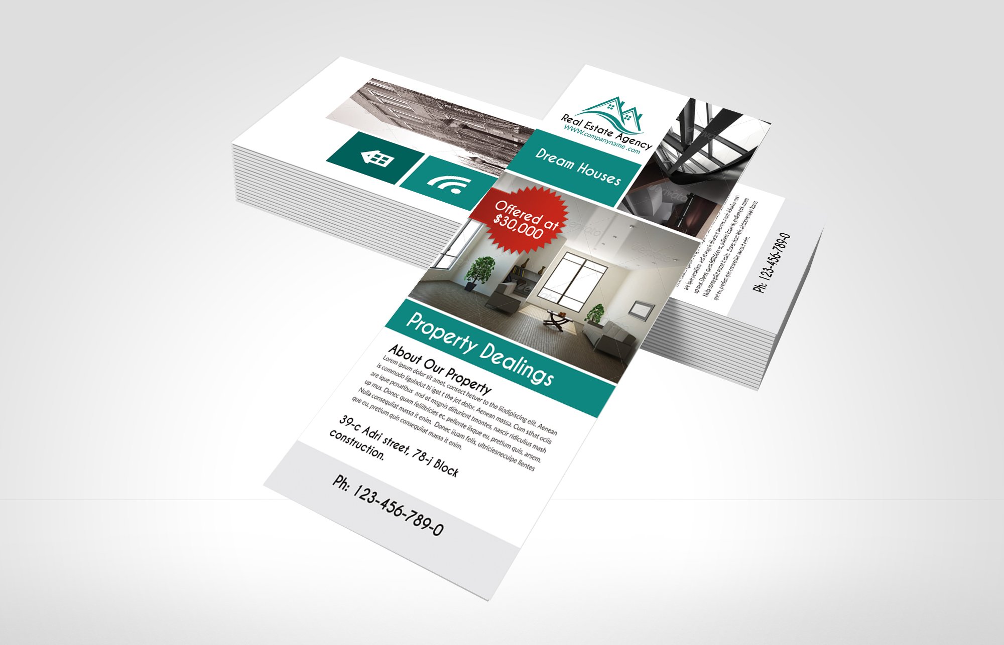 Real Estate Agency Rack Cards example image 2