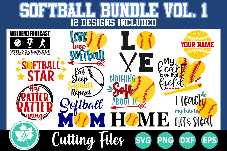 Softball SVG Bundle Volume 1 example image 1