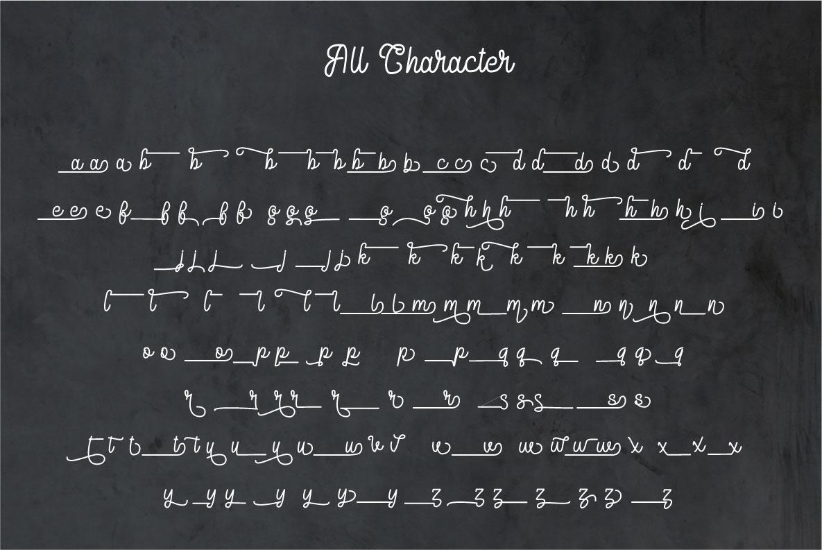 Delponta | Monoline Script example image 5