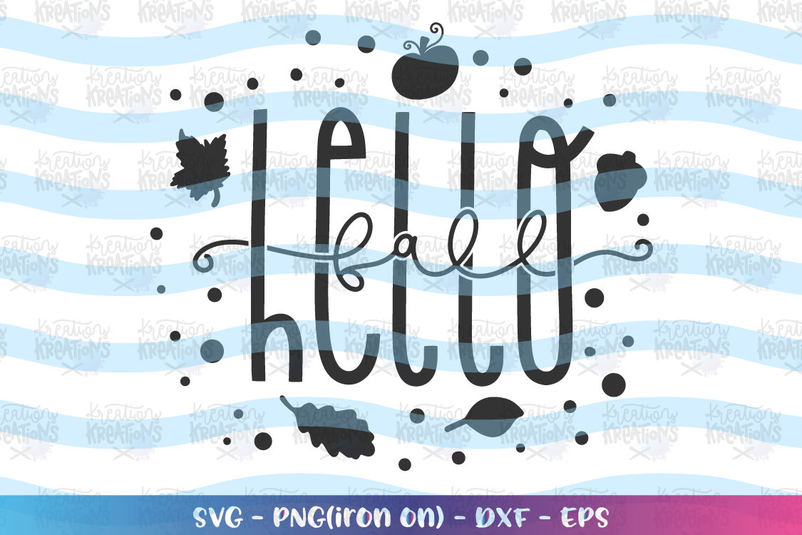 Fall SVG Hello Fall svg Fall sayings elements Autumn example image 2