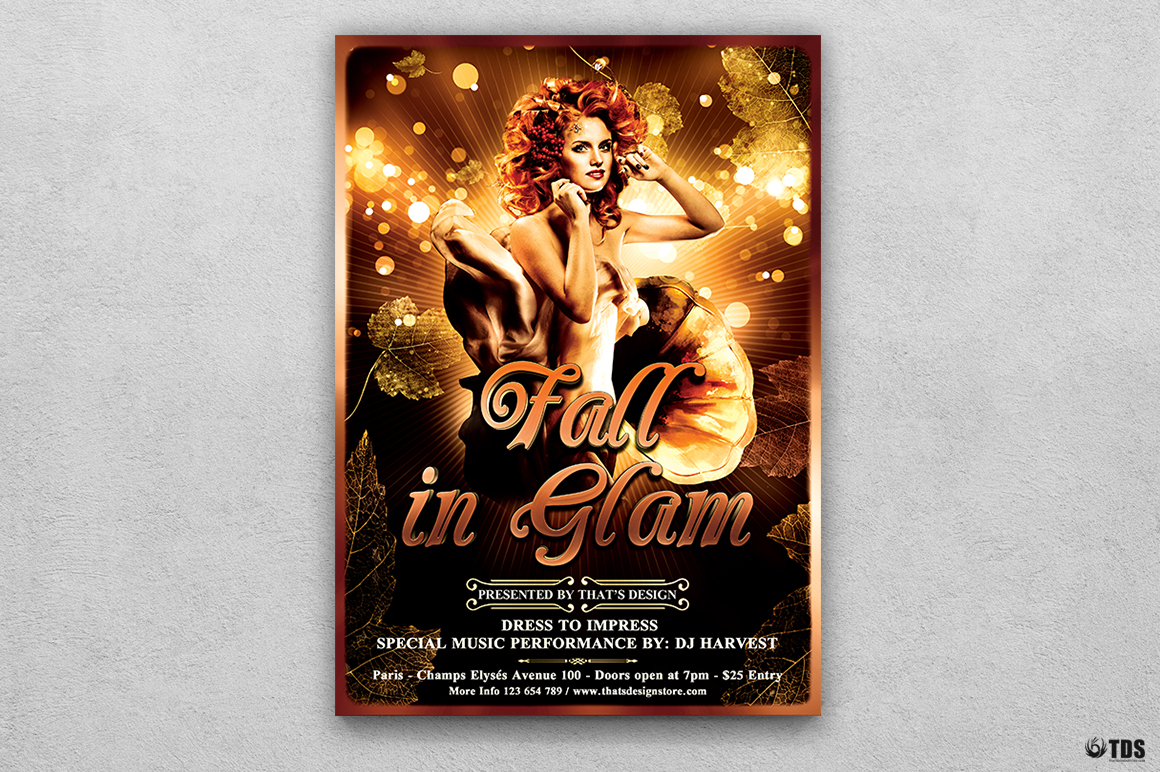 Fall in Glam Flyer Bundle V1 example image 3