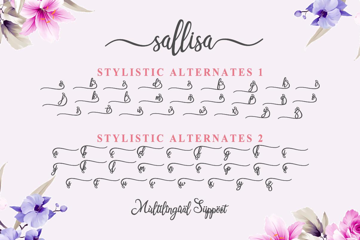 Sallisa - beautiful script font example image 5