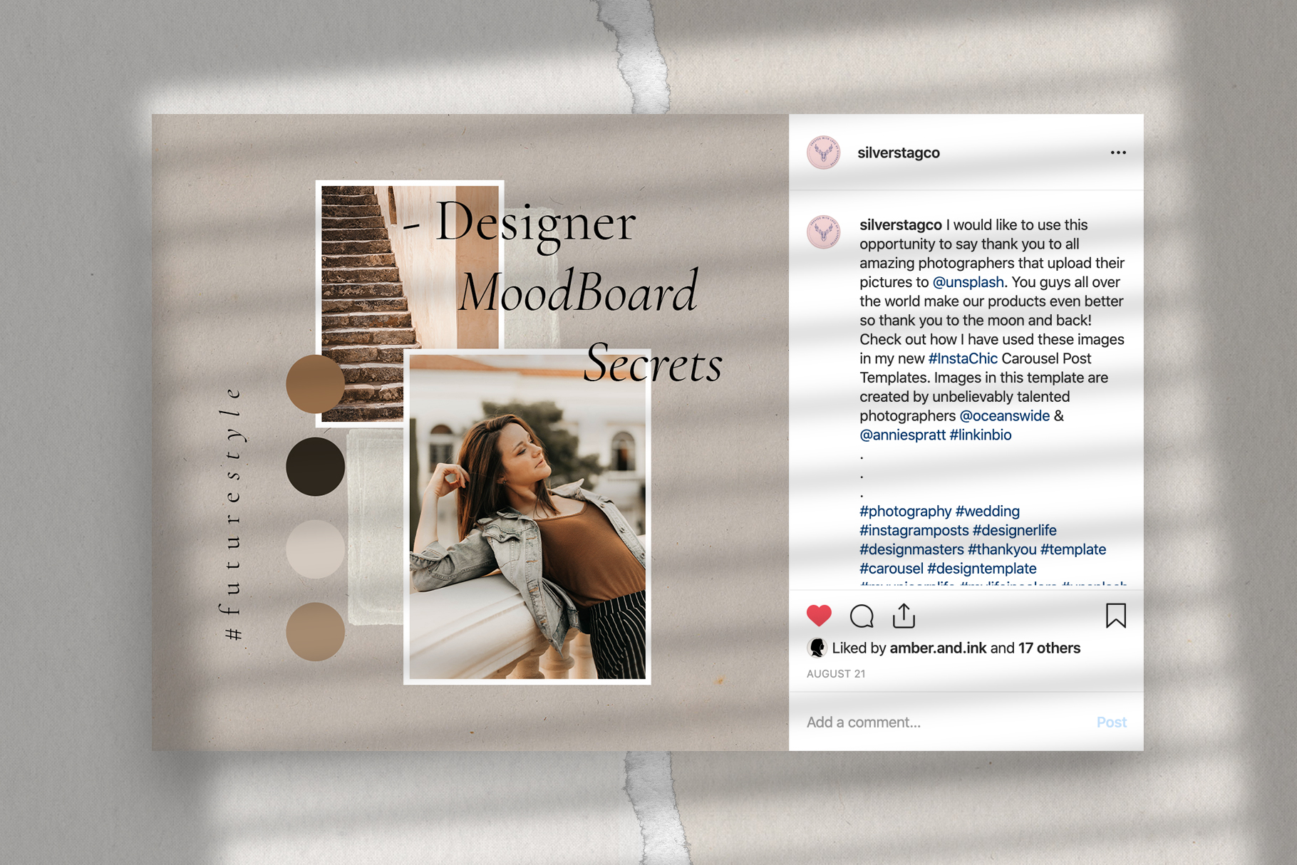 #InstaBabe Instagram Post Templates example image 8