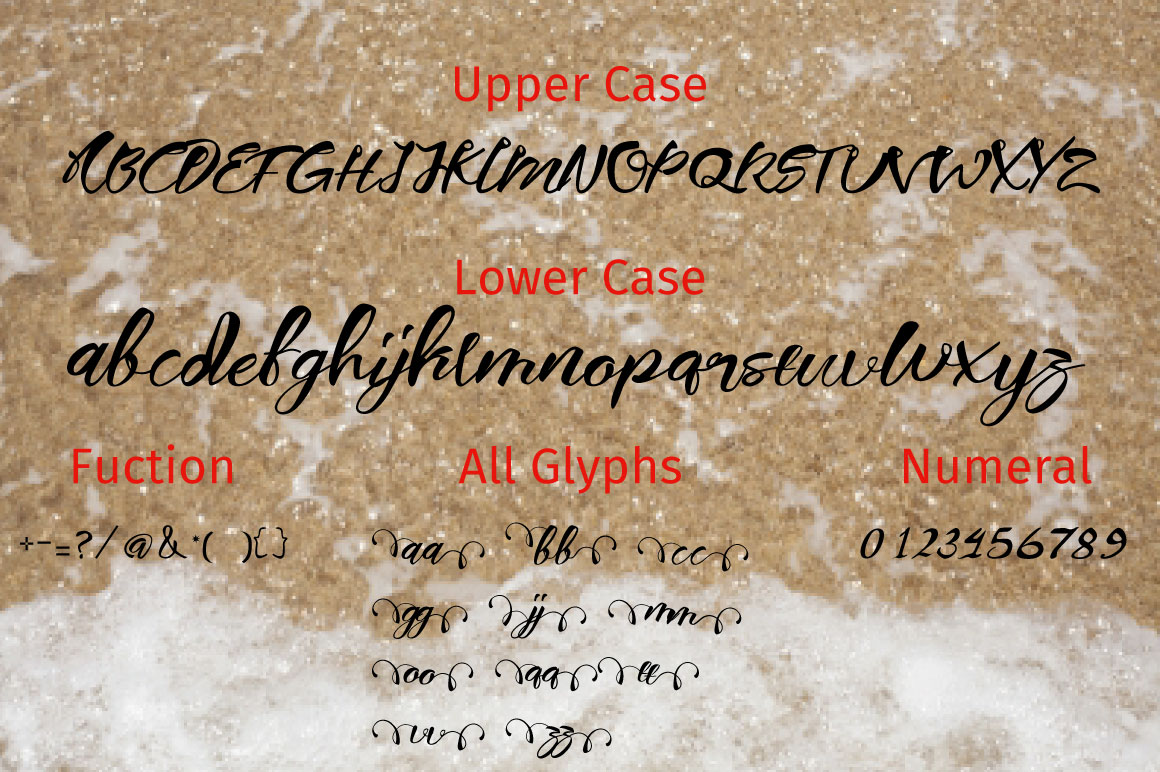 nidewoof font example image 3