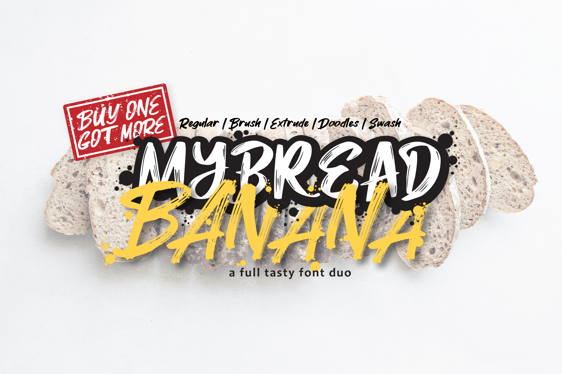 MyBread Banana Font Duo example image 1