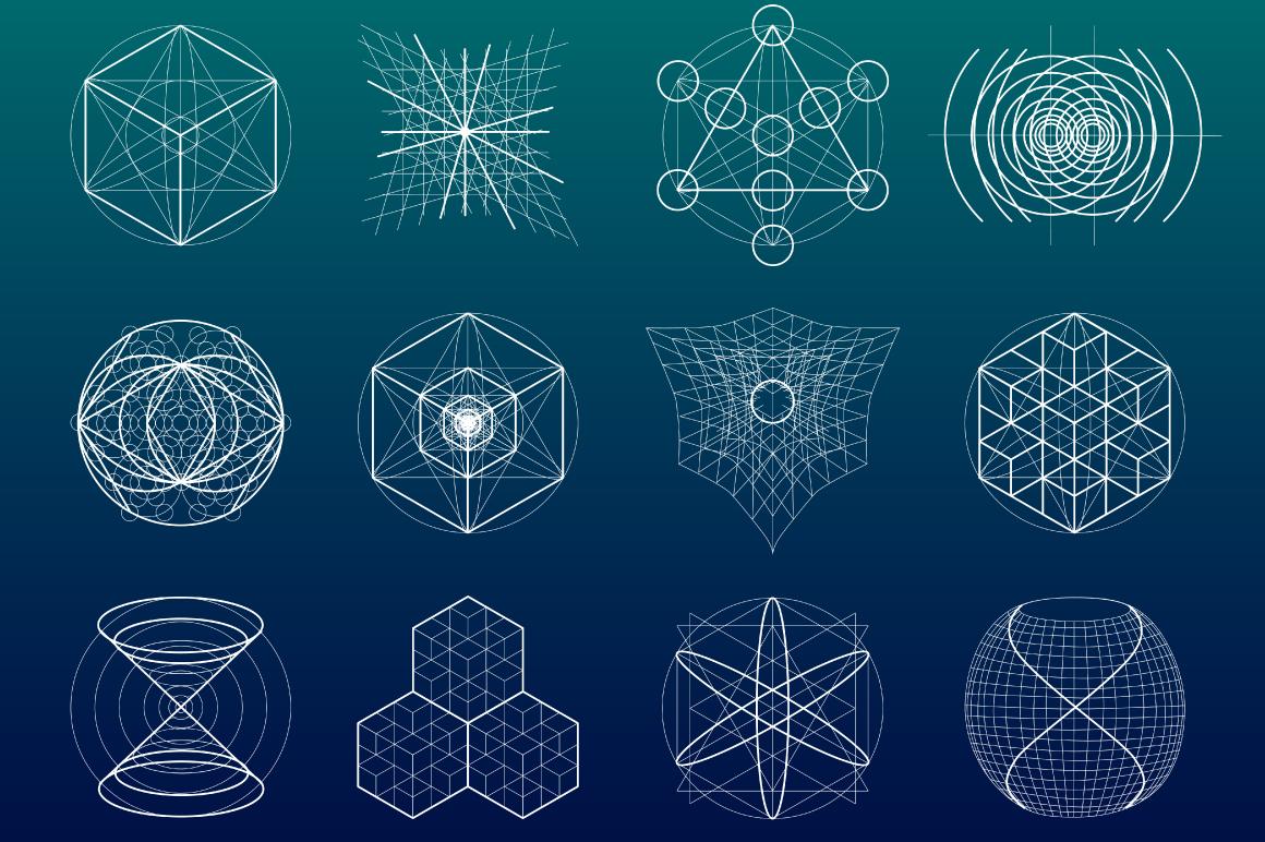 {Sacred Geometry} Symbols + Meshes example image 4