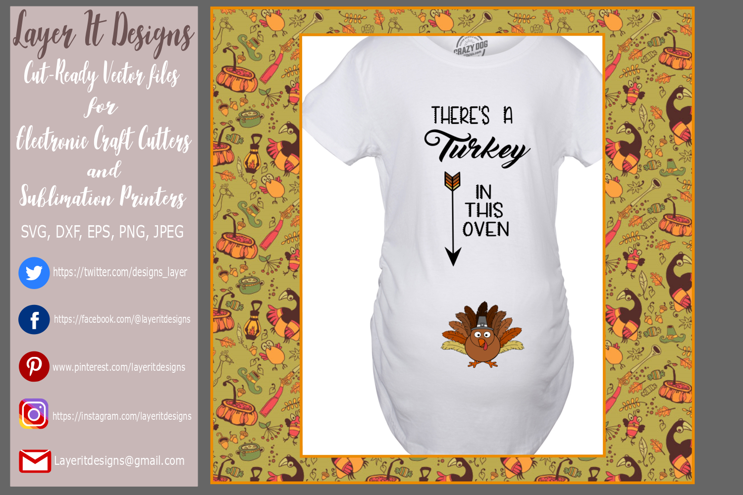 Thanksgiving Pregnancy T shirt Designs example image 3