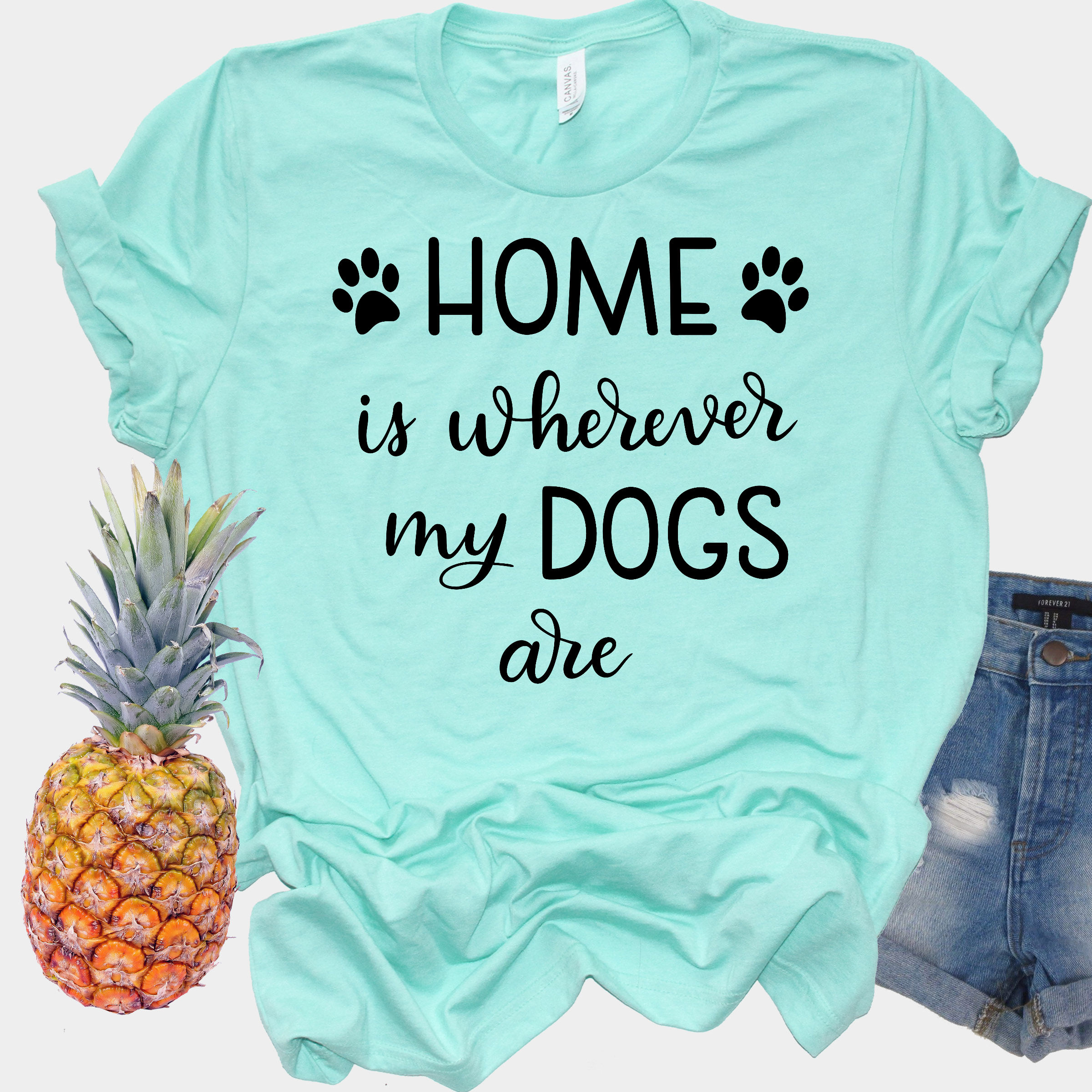 Dog SVG - Home is wherever my dogs are, Handlettered example image 2