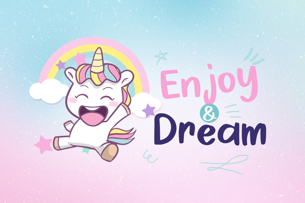 Cheerful Unicorn example image 3