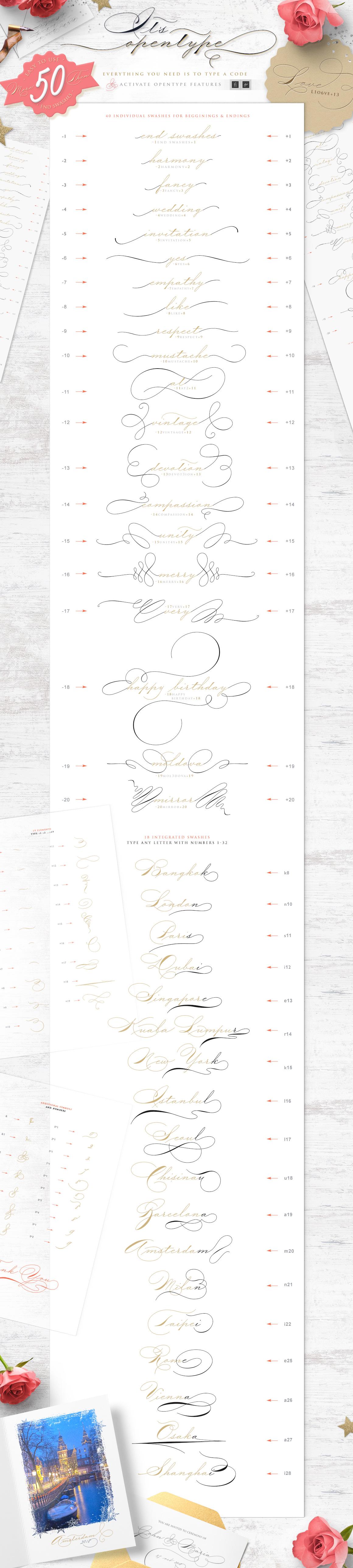 The Wedding Script & Invitation set example image 5