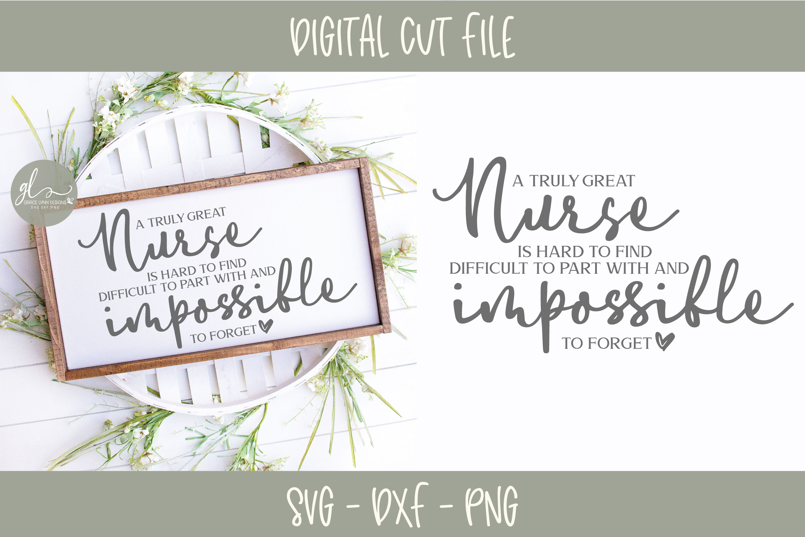 A Truly Great Nurse Is Hard To Find - SVG Cut File example image 1