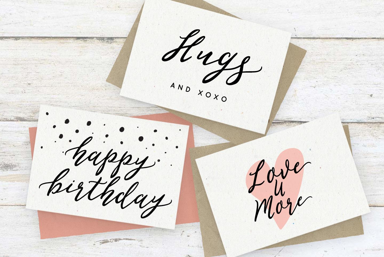 Romantic, flirty wedding font, February Love example image 3