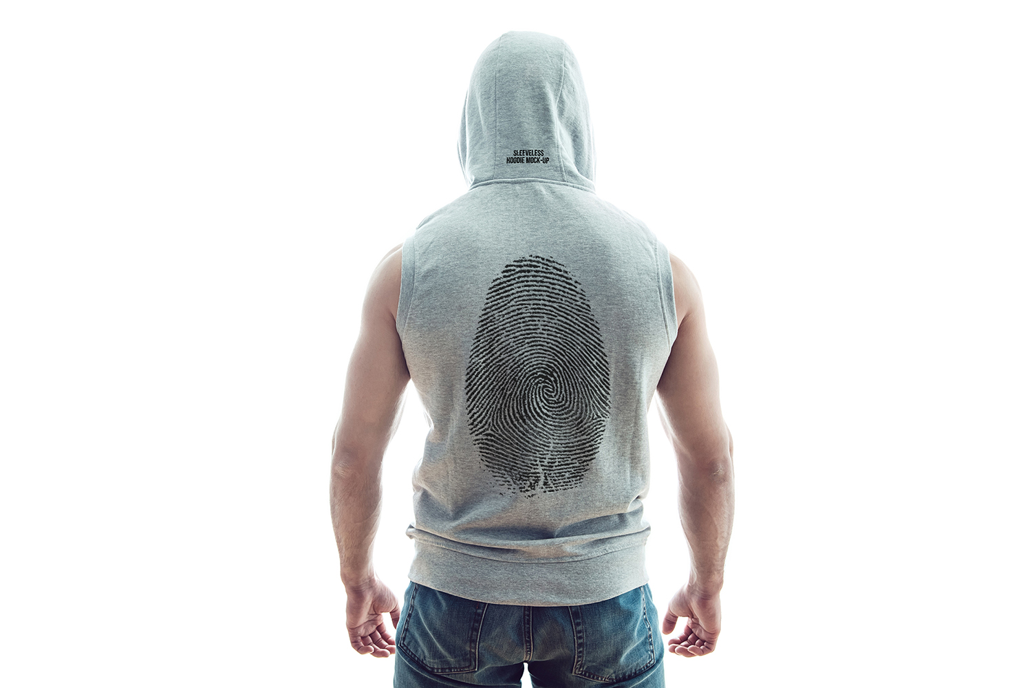 Sleeveless Hoodie Mock-Up example image 8