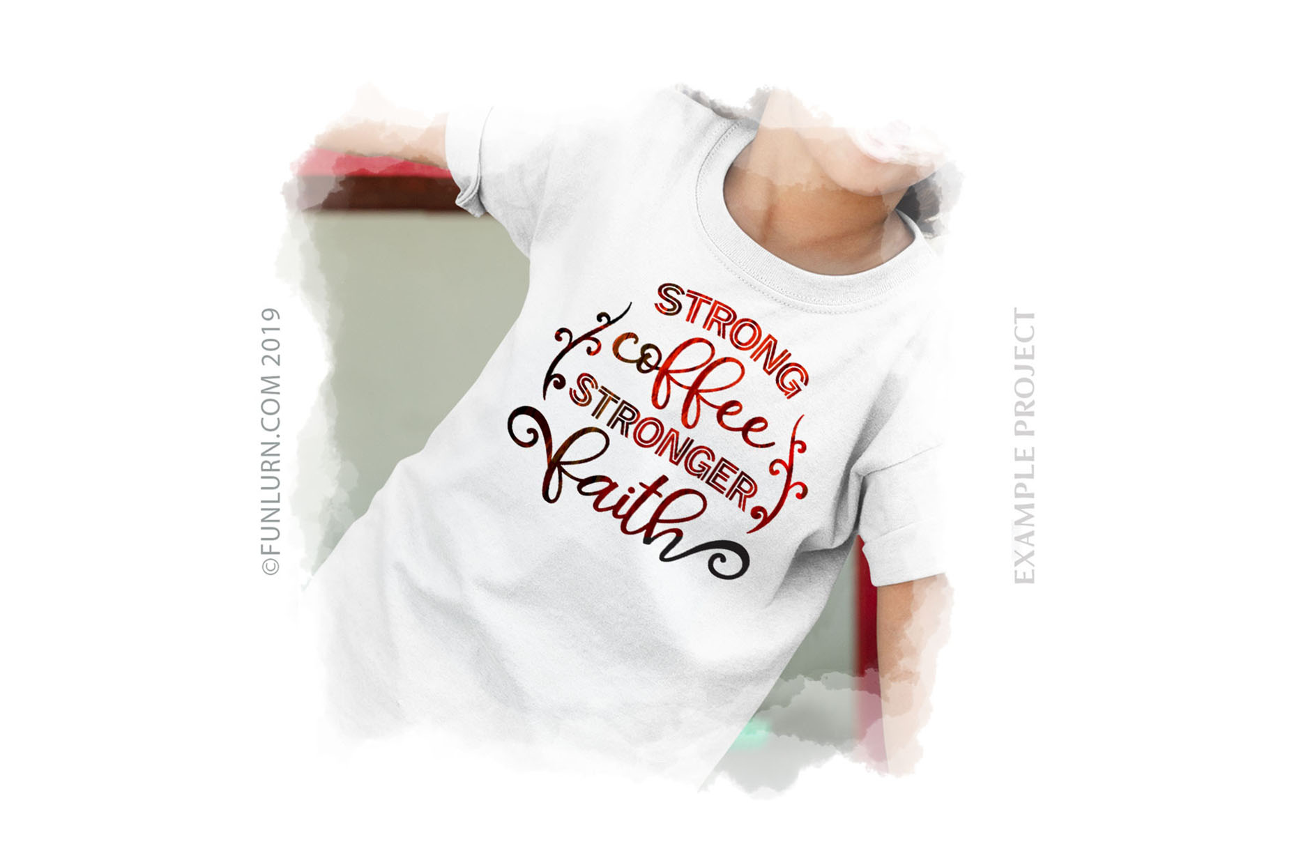 Strong Coffee Stronger Faith SVG Cut File example image 3