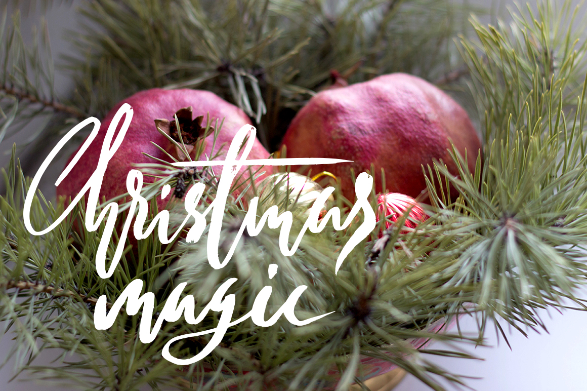 Watercolor christmas elements set example image 4