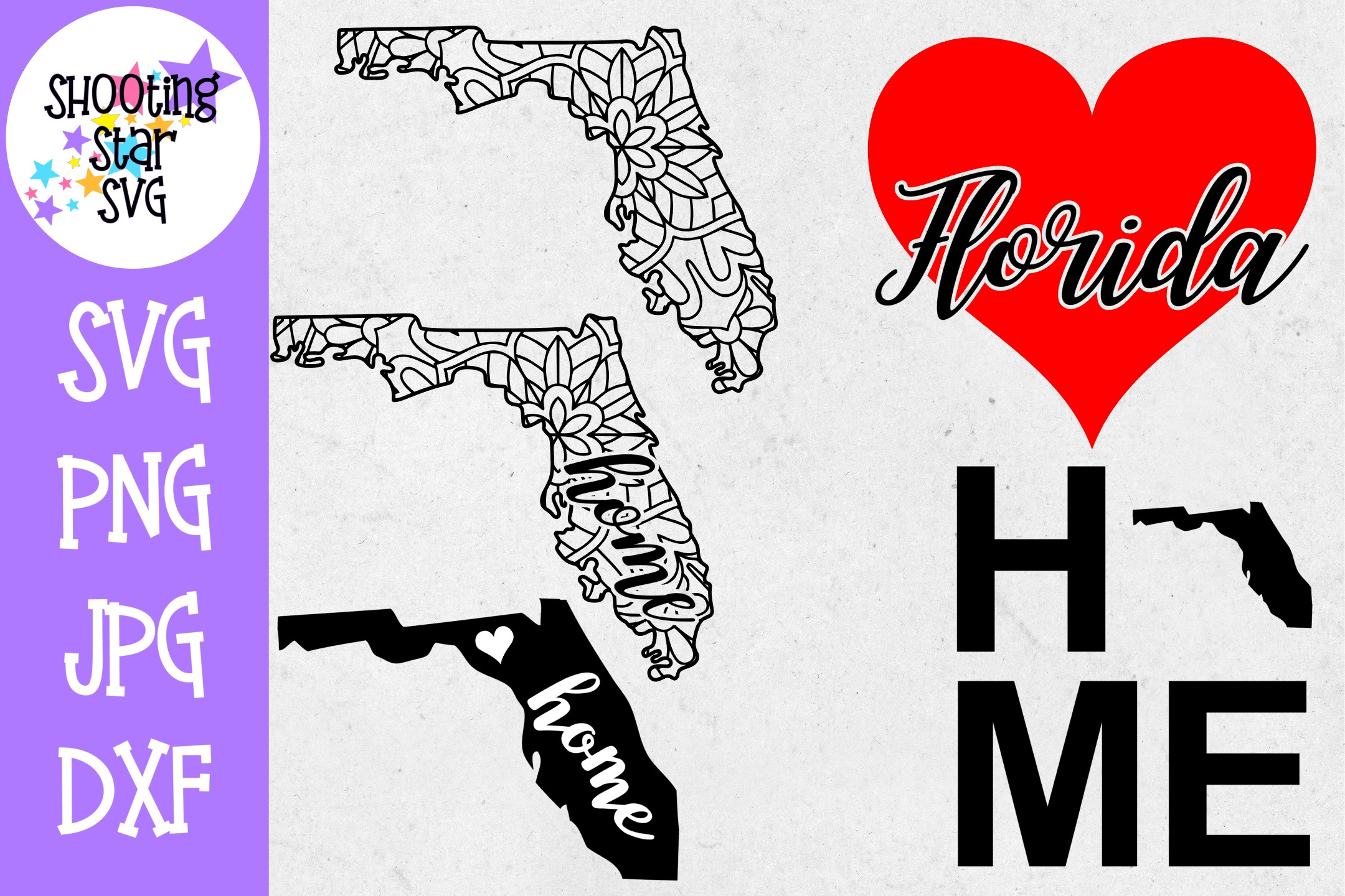 Florida US State SVG Decal Bundle - 50 States SVG example image 1