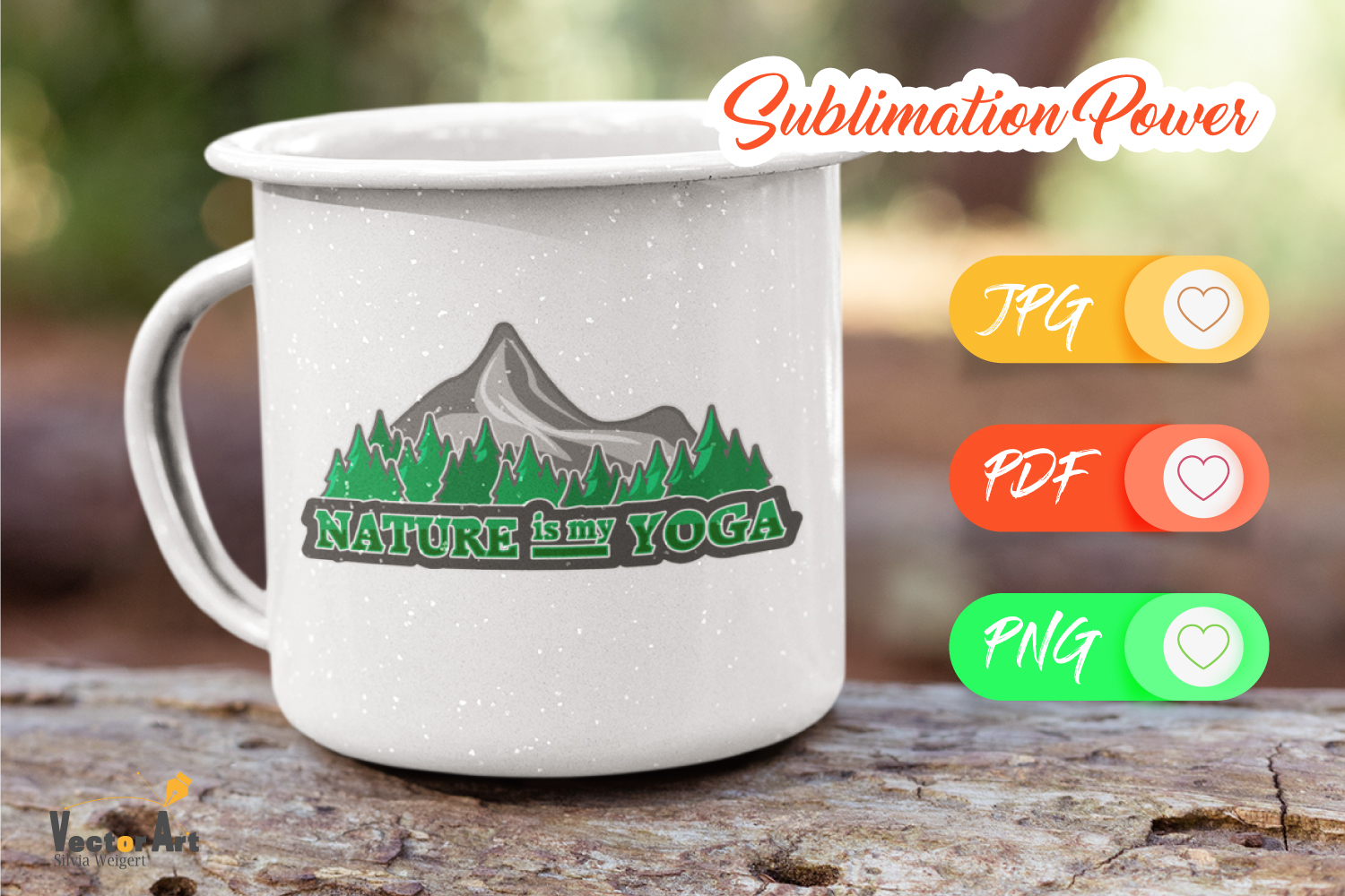 Nature is my Yoga - Sublimation File for Crafter example image 2