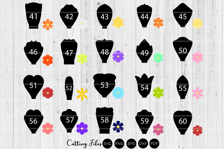 Paper Flowers Templates bundle 109 designs  A1-40   DIY   example image 4