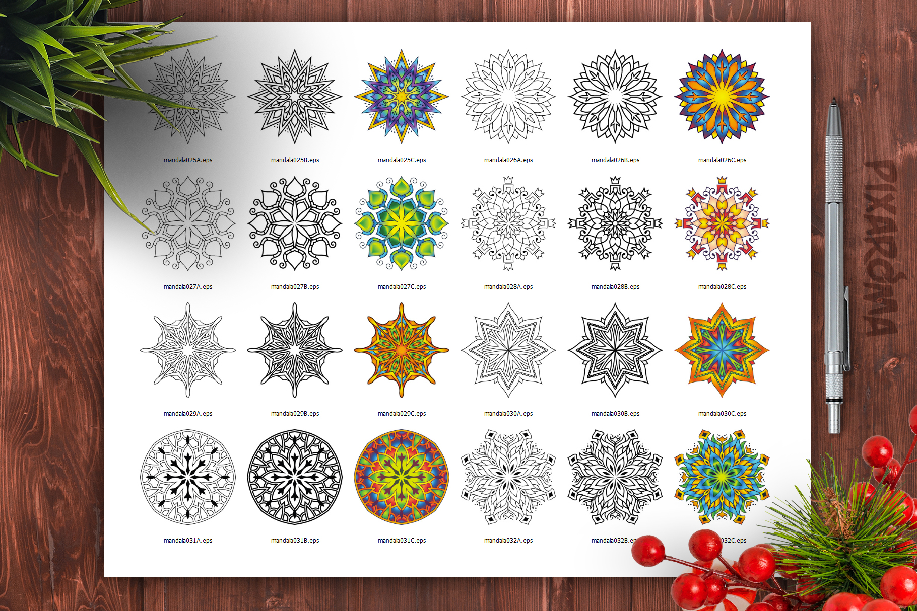 Mandala Vector Ornaments Bundle example image 29