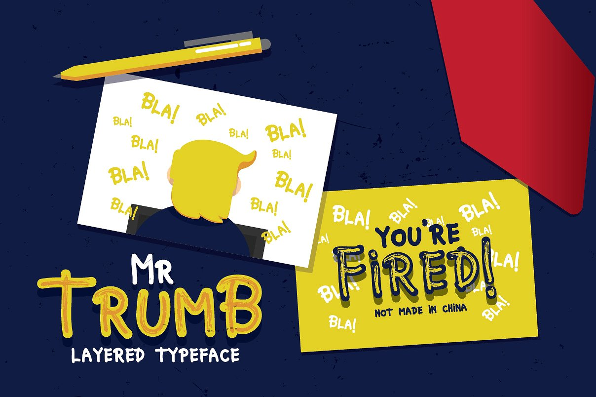 Mr Trumb Layered Typeface example image 3