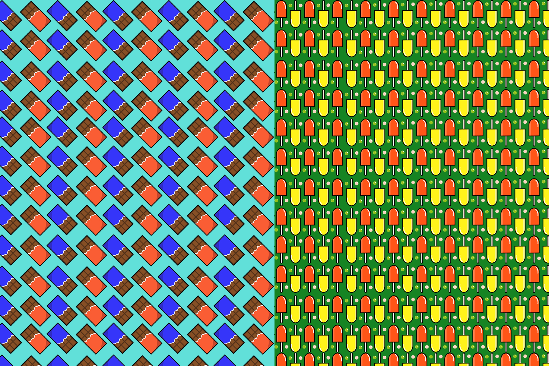 10 Sweets Seamless Patterns example image 6