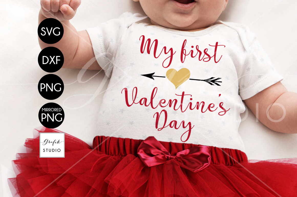 my 1st valentines Day Valentines SVG File example image 1