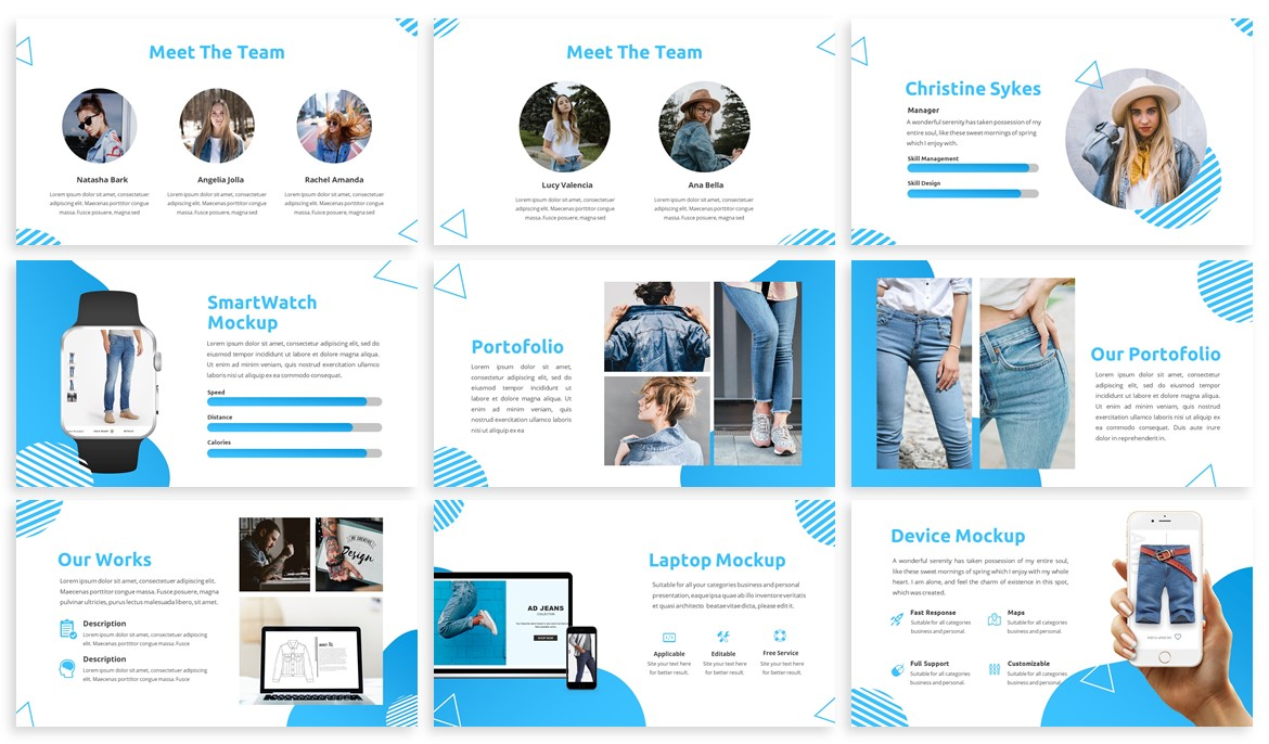 Pungky - Fashion & Creative Powerpoint Template example image 3