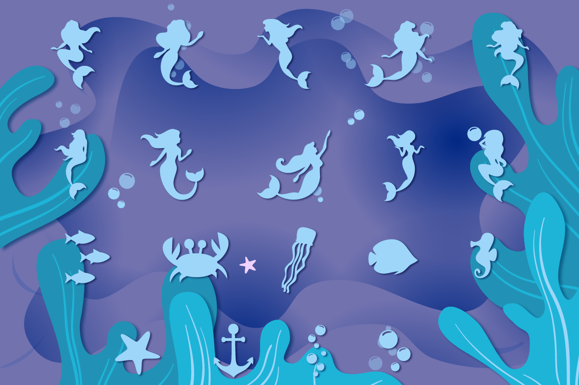 Mermaid Story & Mermaid Scales Font Duo | Mermaid Font example image 6