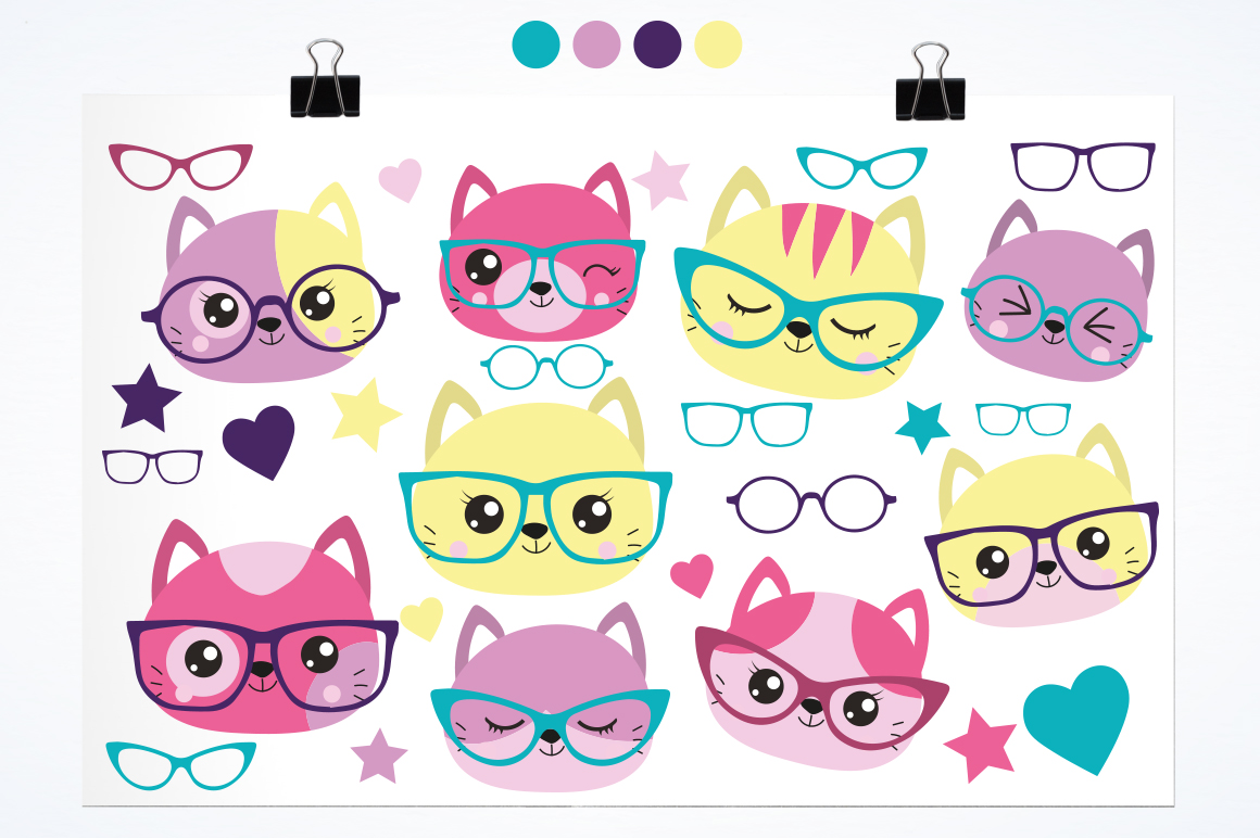 Hipster Cat graphic and illustrations example image 2