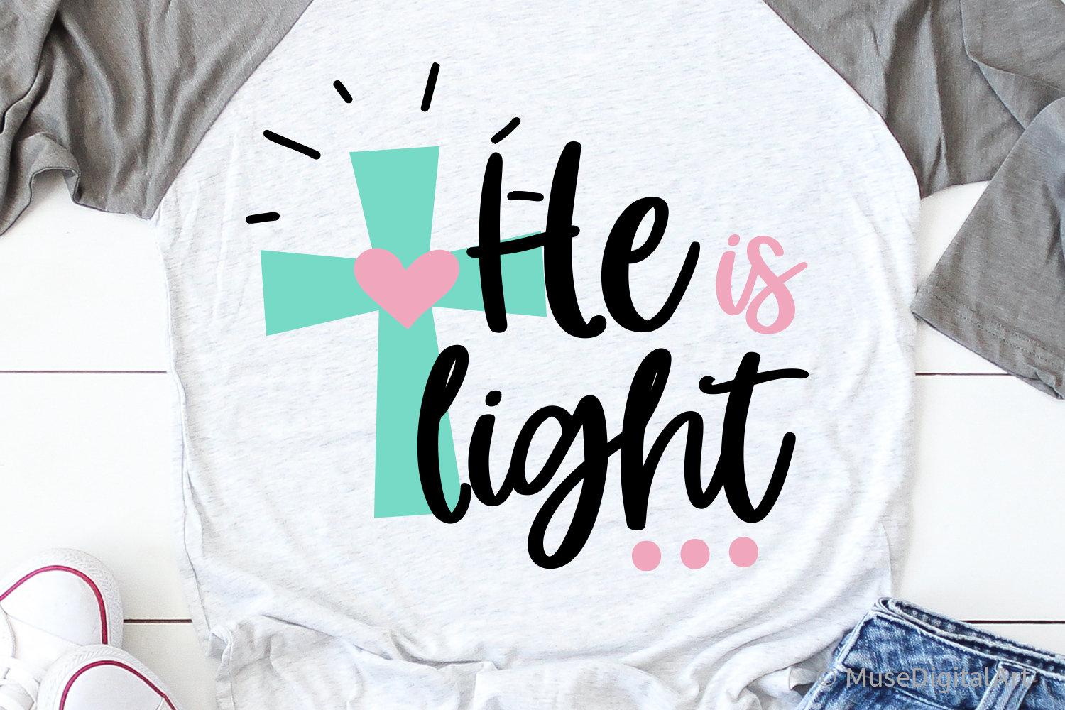 He Is Light Svg, He is the Light of the World, Loved Svg example image 1