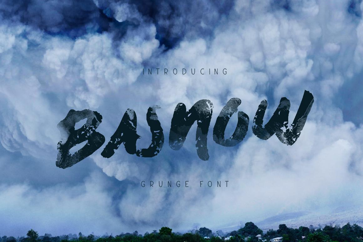 Basnow Grunge Font example image 1