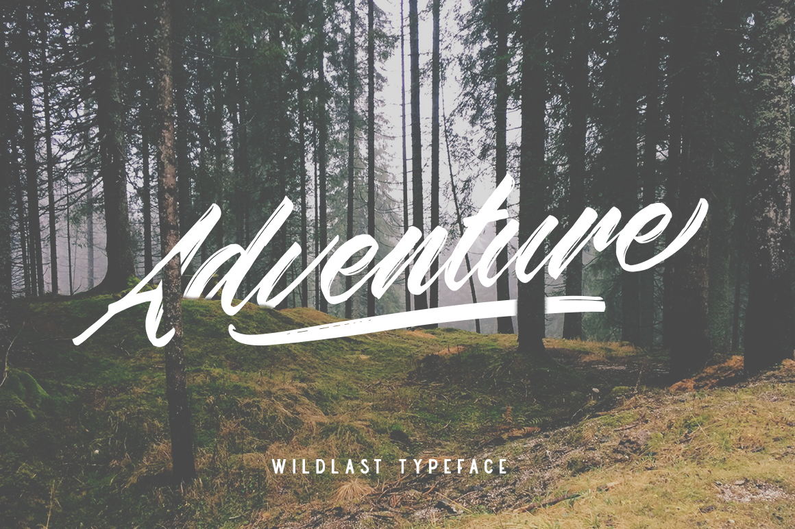 Wildlast Handbrush Typeface example image 4