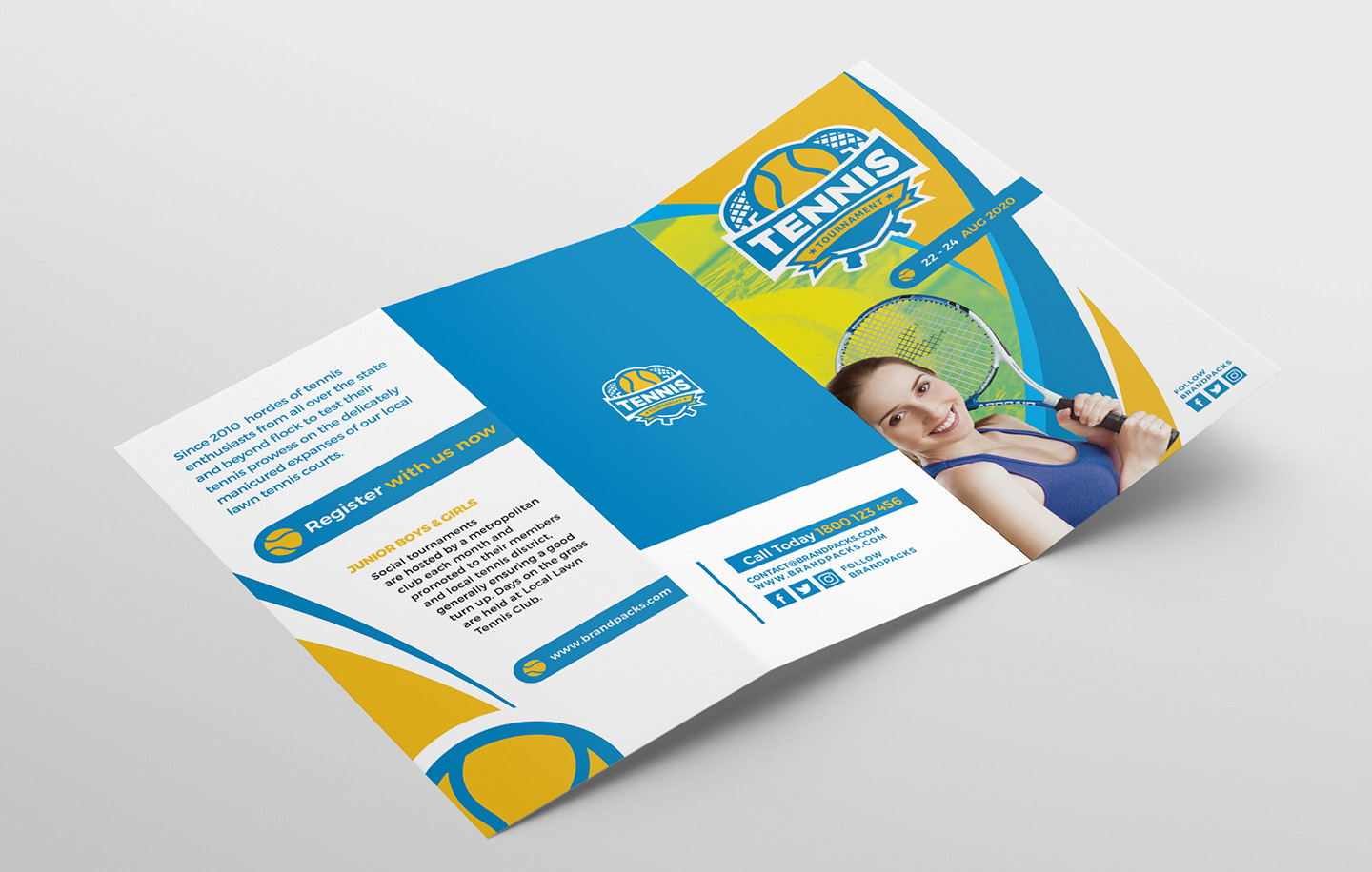 Tennis Tri-Fold Brochure Template example image 4