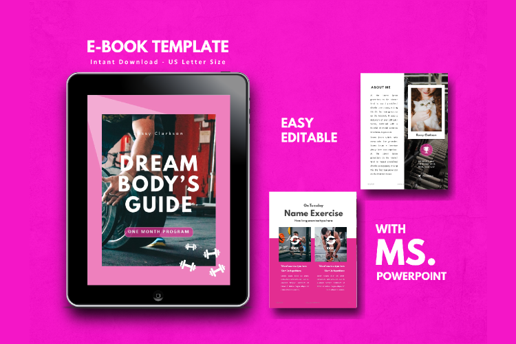 Fitness eBook Template - PowerPoint Template example image 1