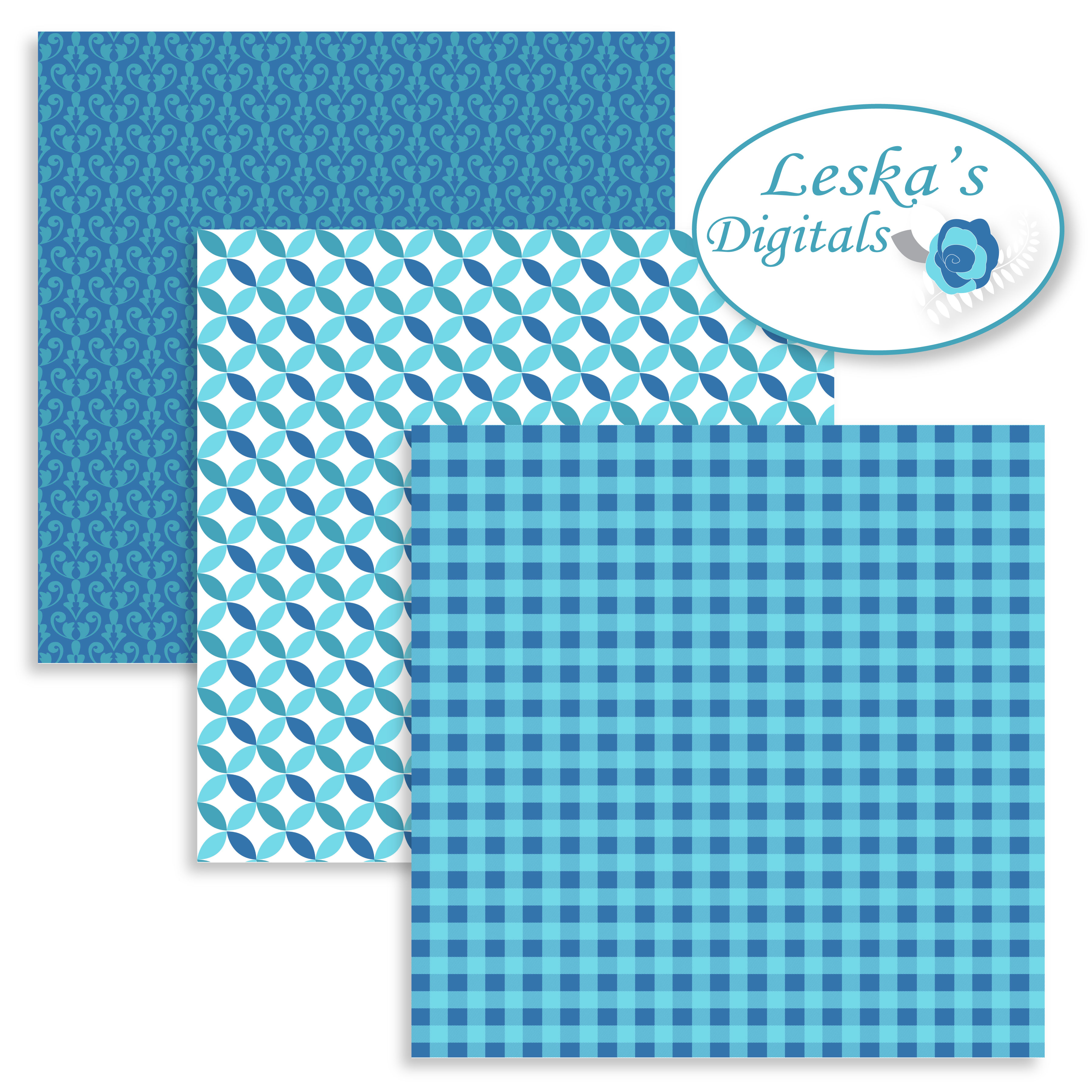 Blue Patterned Paper Pack example image 2
