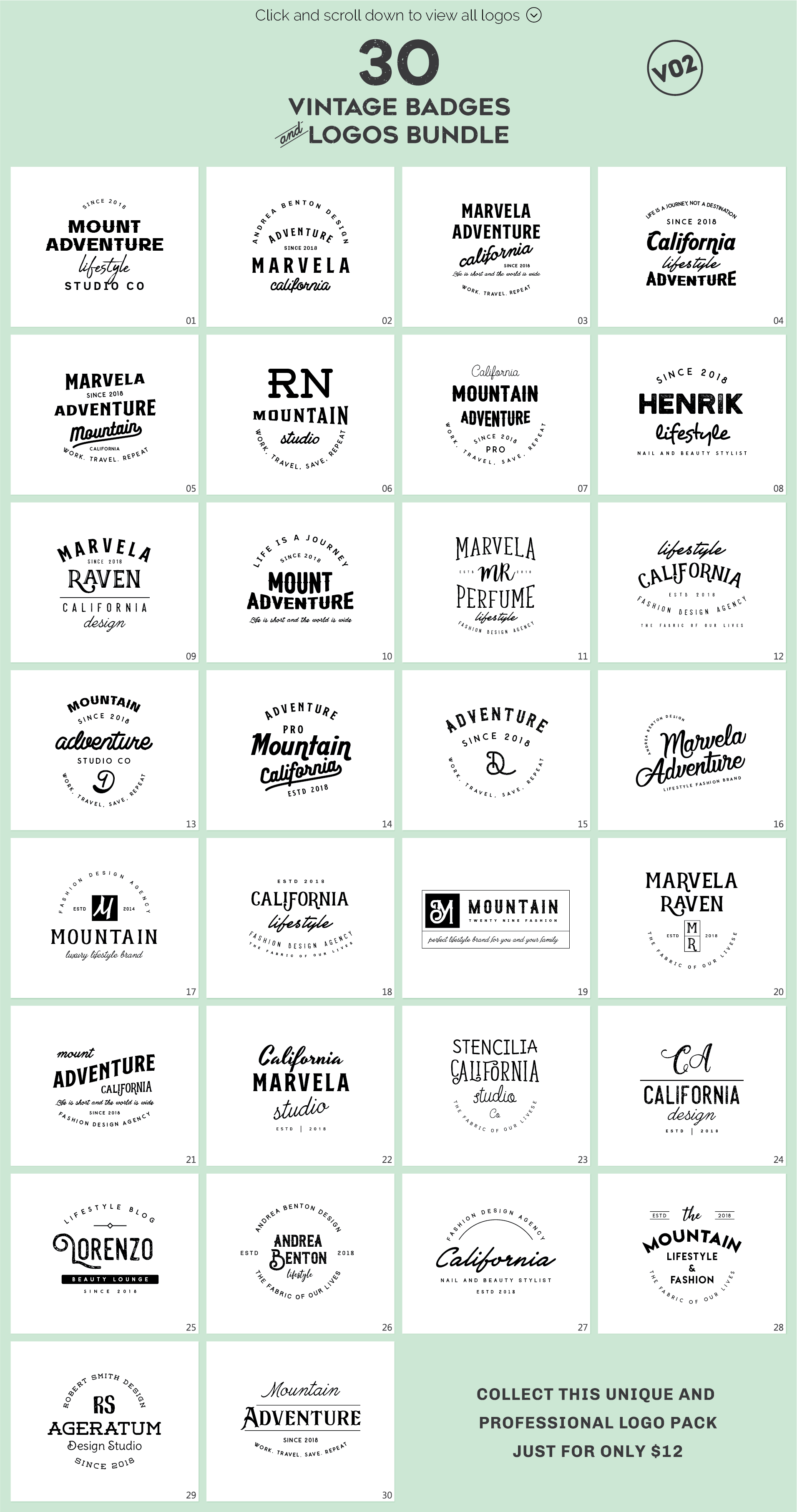 640 Premade Logos Mega Bundle example image 28