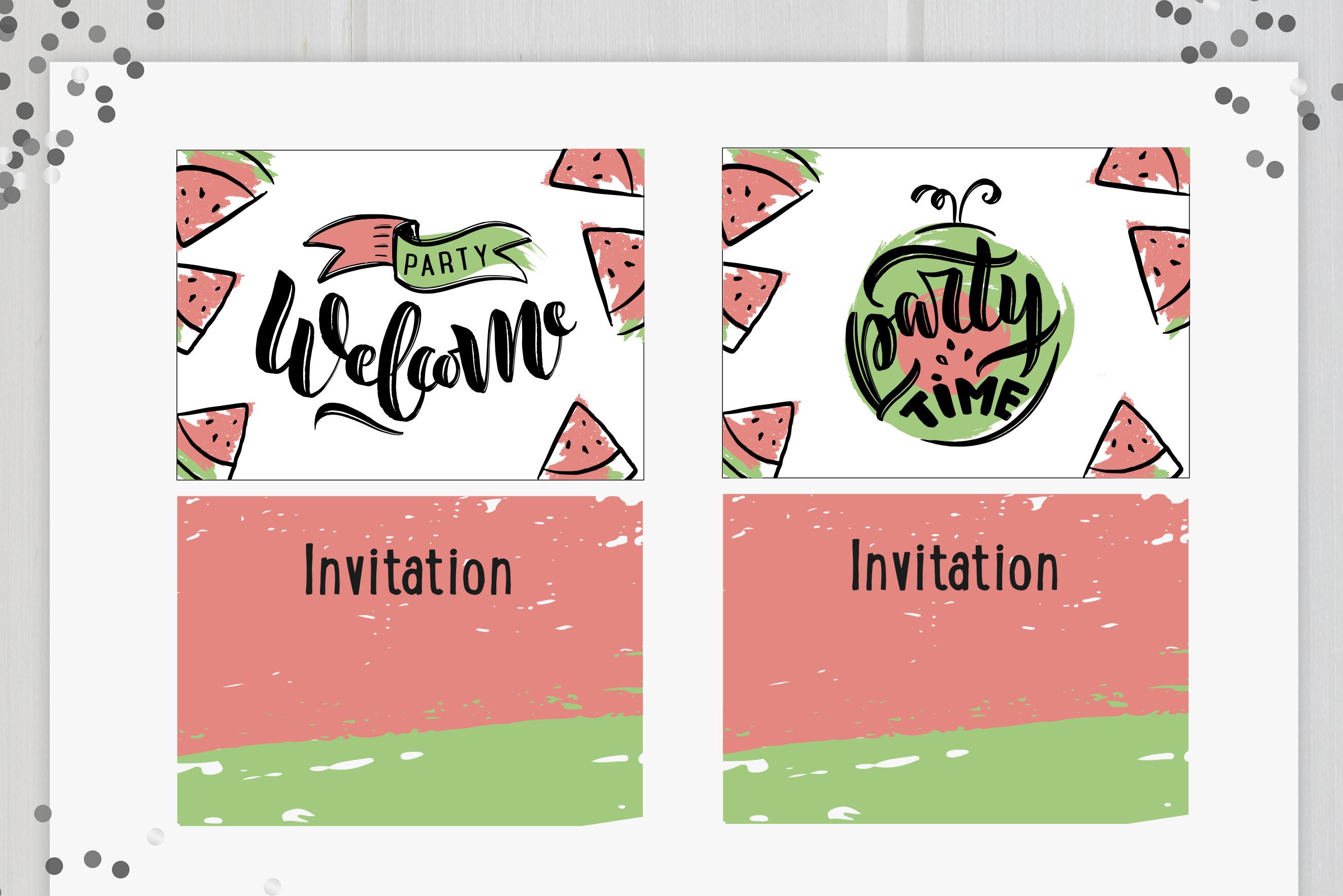 B-day celebration handlettered set example image 9